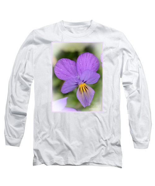 Flowers That Smile Long Sleeve T-Shirt by Kerri Farley