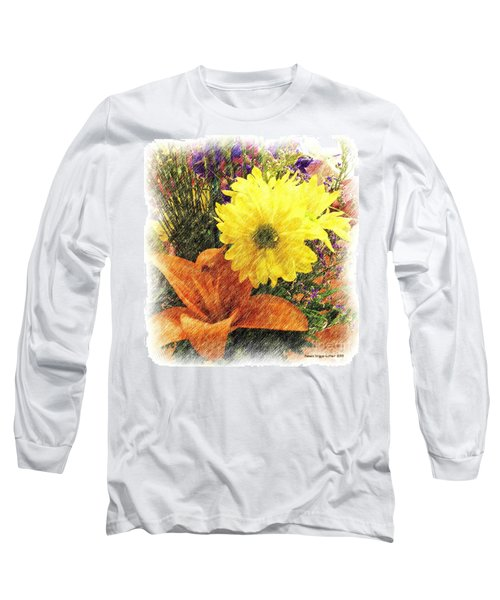 Long Sleeve T-Shirt featuring the photograph Flowers With Love by Luther Fine Art