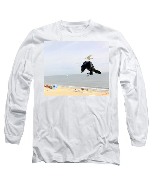 Flying Evil With Bad Intentions Long Sleeve T-Shirt by Richard Rosenshein