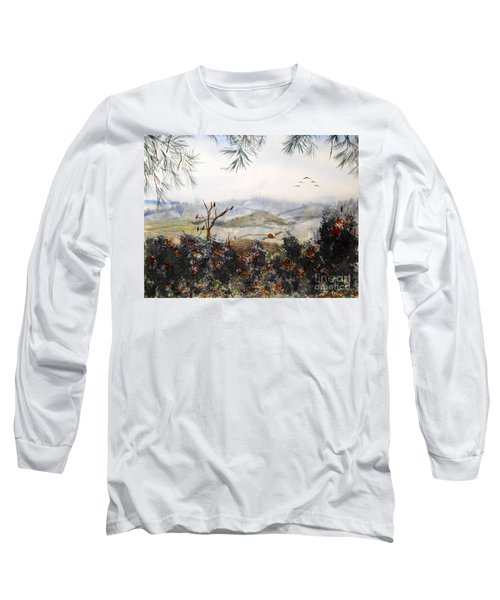 Flying South For The Winter Long Sleeve T-Shirt by Vicki  Housel