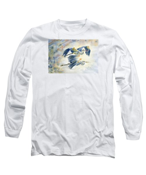 Flying Together Long Sleeve T-Shirt by Melly Terpening
