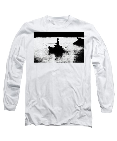 Foggy River Dawn Long Sleeve T-Shirt
