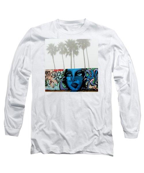 Foggy Venice Beach Long Sleeve T-Shirt