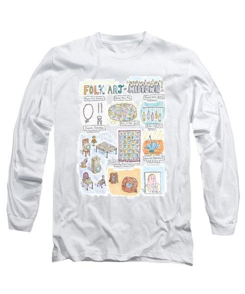'folk Art Of Midtown' Long Sleeve T-Shirt