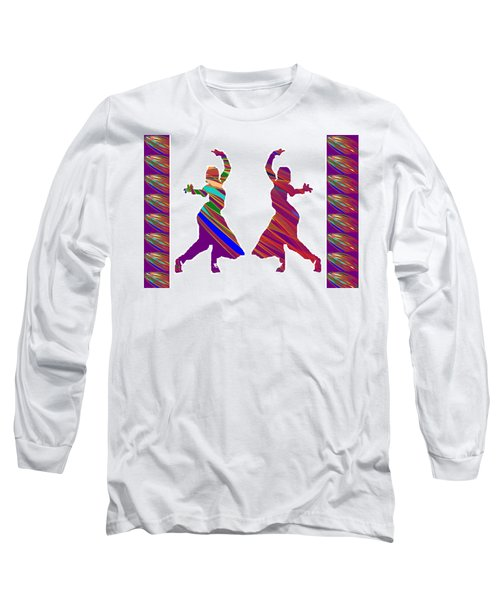 Long Sleeve T-Shirt featuring the photograph Folk Dance Sparkle Graphic Decorations by Navin Joshi