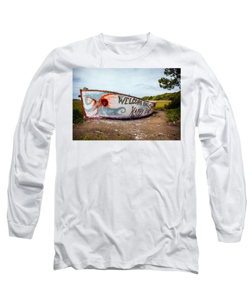Long Sleeve T-Shirt featuring the photograph Folly Boat by Sennie Pierson
