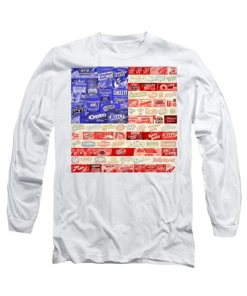 Food Advertising Flag Long Sleeve T-Shirt