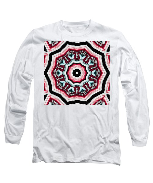 Food Mixer Mandala Long Sleeve T-Shirt by Andy Prendy