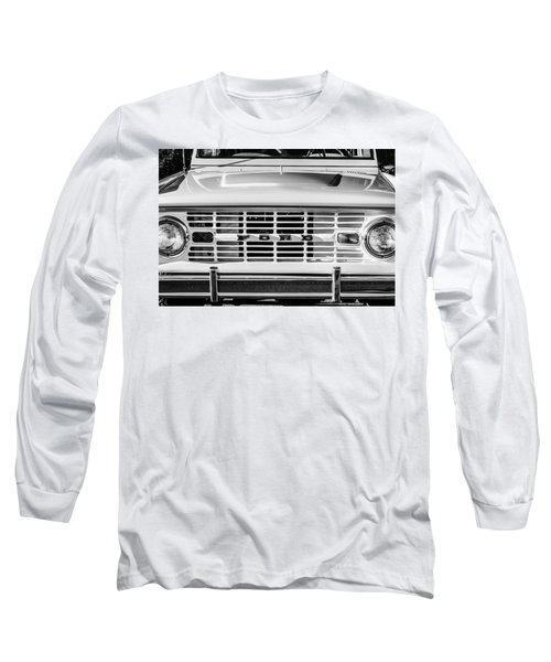 Ford Bronco Grille Emblem -0014bw Long Sleeve T-Shirt