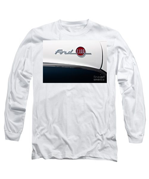 Ford F-100 Long Sleeve T-Shirt by Linda Bianic