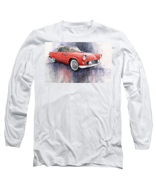 Ford Thunderbird 1955 Red Long Sleeve T-Shirt