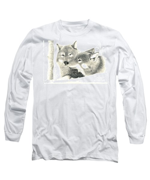 Forever Wolf Love-the Greeting Long Sleeve T-Shirt