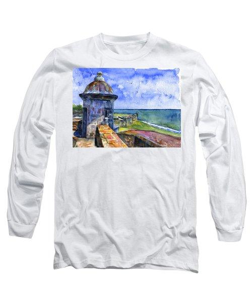 Fort San Juan Puerto Rico Long Sleeve T-Shirt by John D Benson