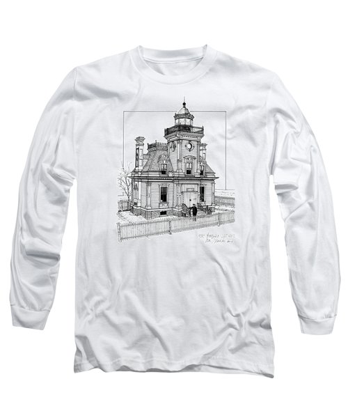 Fort Tompkins Lighthouse Long Sleeve T-Shirt by Ira Shander