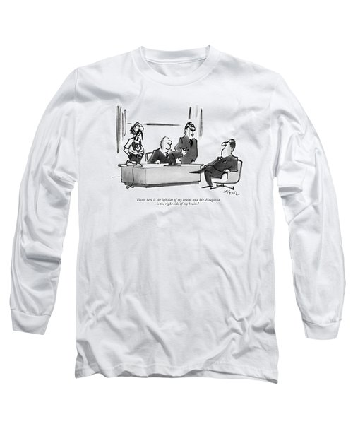 Foster Here Is The Left Side Of My Brain Long Sleeve T-Shirt