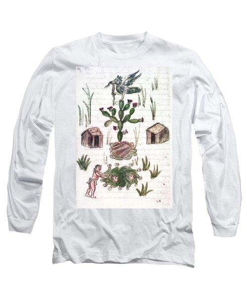 Founding Of Tenochtitlan Long Sleeve T-Shirt