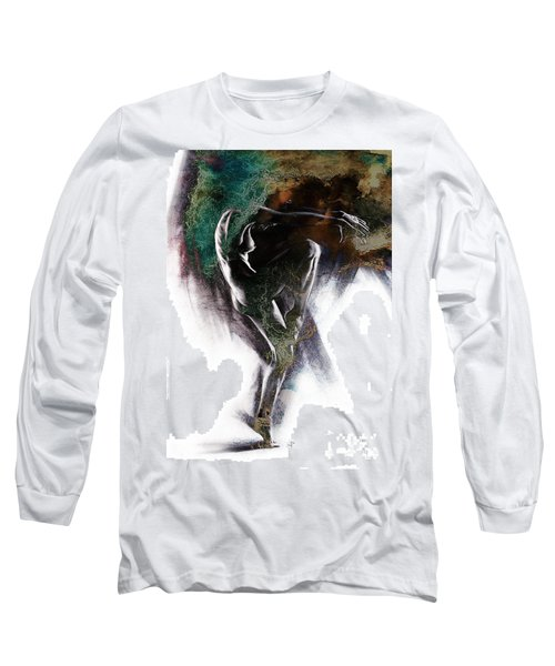 Fount II. Textured. A Long Sleeve T-Shirt