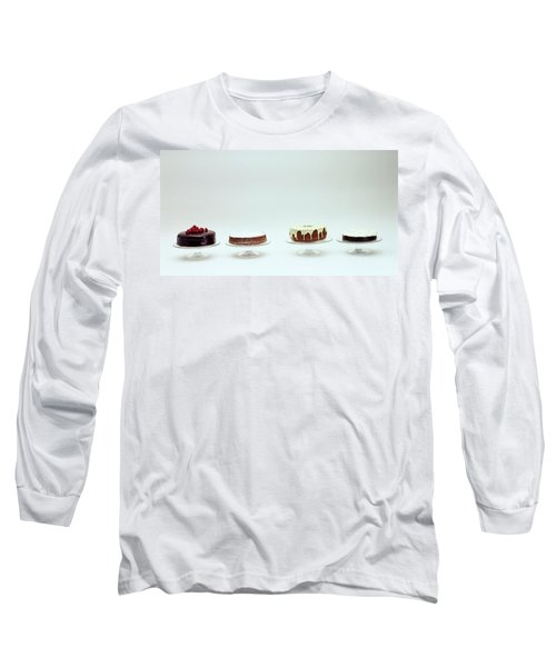 Four Cakes Side By Side Long Sleeve T-Shirt
