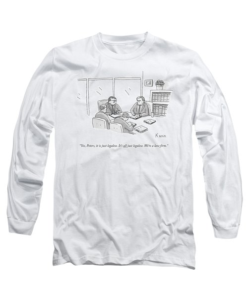 Four Lawyers Speak At A Conference Table Long Sleeve T-Shirt