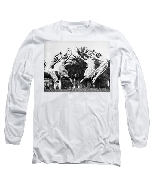 Four Leaping Grecian Dancers Long Sleeve T-Shirt