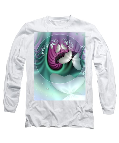 Fractal A Dream Of Butterflies Long Sleeve T-Shirt