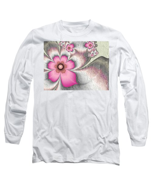 Fractal Nostalgic Flowers 2 Long Sleeve T-Shirt