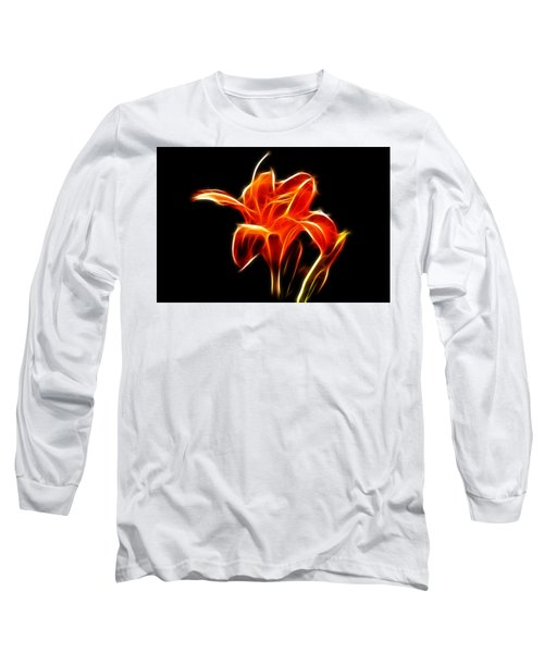 Fractaled Lily Long Sleeve T-Shirt