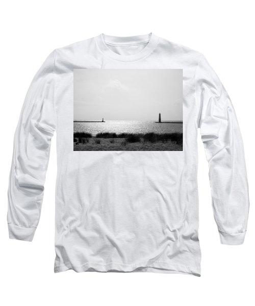 Frankfort Michigan Harbor Long Sleeve T-Shirt