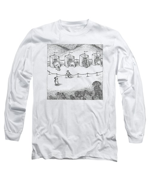 Freak Show Of Average Beach-goers Long Sleeve T-Shirt
