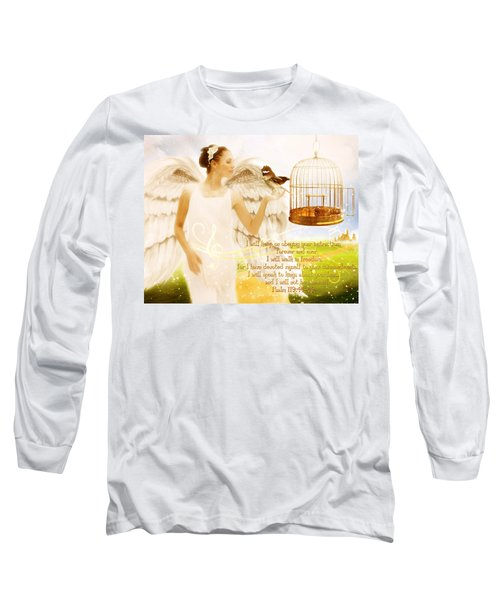 Freedom Song With Scripture Long Sleeve T-Shirt