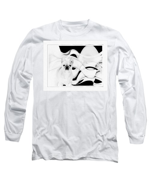 Long Sleeve T-Shirt featuring the painting French Bulldog by Barbara Chichester
