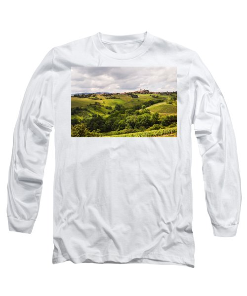 Long Sleeve T-Shirt featuring the photograph French Countryside by Allen Sheffield