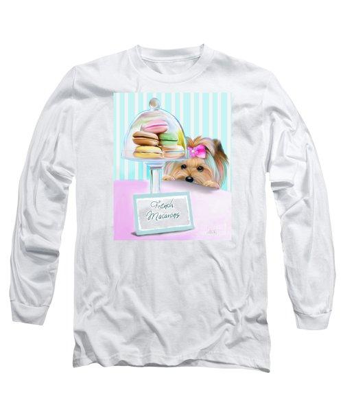French Macarons Long Sleeve T-Shirt by Catia Cho