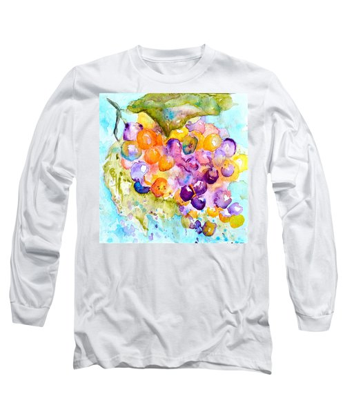 Fresh Grapes Long Sleeve T-Shirt by Beverley Harper Tinsley