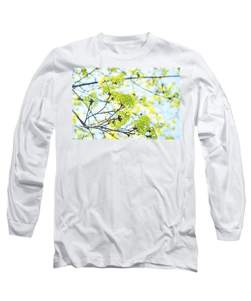 Long Sleeve T-Shirt featuring the photograph Fresh Spring Green Buds by Brooke T Ryan