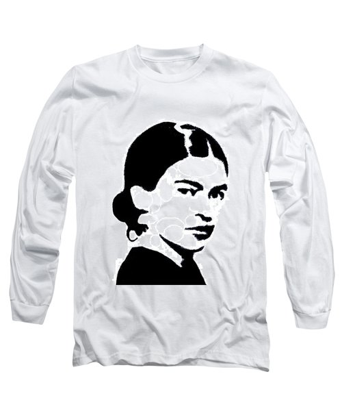 Frida Black And White Long Sleeve T-Shirt