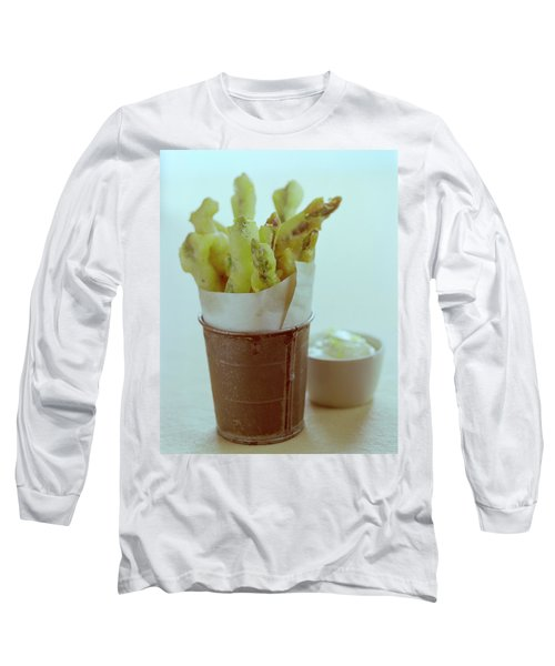 Fried Asparagus Long Sleeve T-Shirt by Romulo Yanes