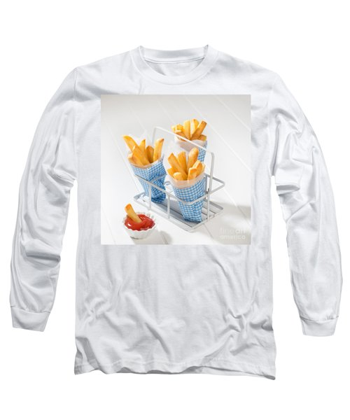Fries Long Sleeve T-Shirt by Amanda Elwell