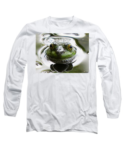 Long Sleeve T-Shirt featuring the photograph Frog Kiss by Dianne Cowen