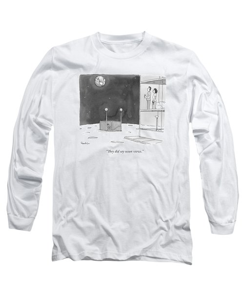 From An Apartment Window On The Moon Long Sleeve T-Shirt