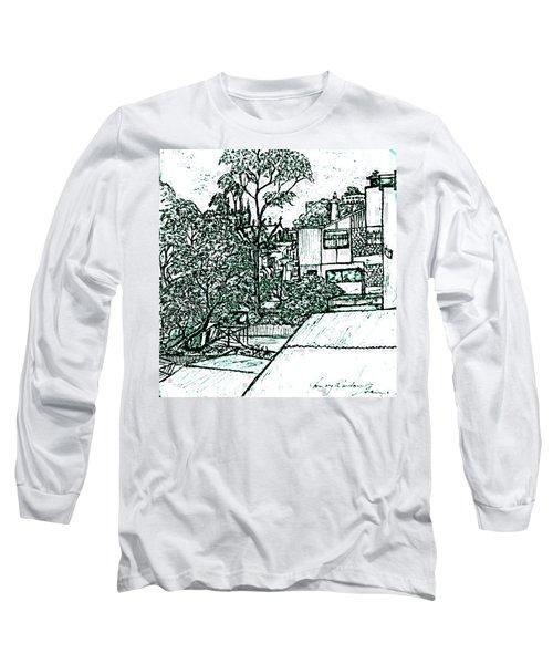 From My Window In Blue Long Sleeve T-Shirt
