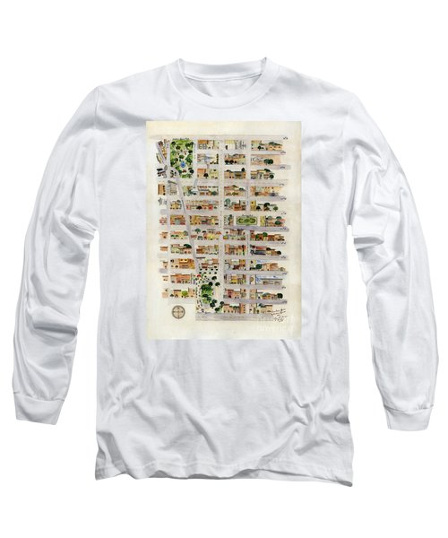 From Union Square To Madison Square Long Sleeve T-Shirt by AFineLyne