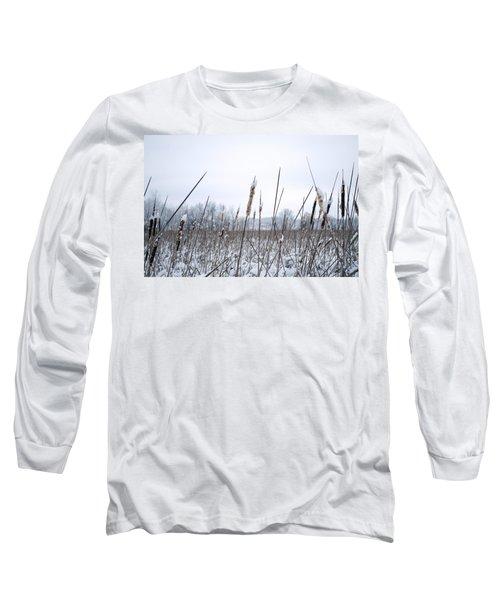 Frosty Cattails Long Sleeve T-Shirt