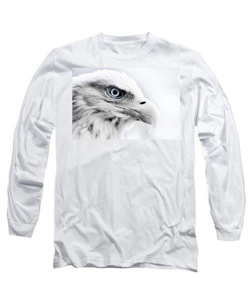 Frosty Eagle Long Sleeve T-Shirt by Shane Holsclaw