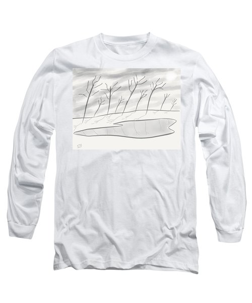 Frozen Landscape Long Sleeve T-Shirt by Stacy C Bottoms