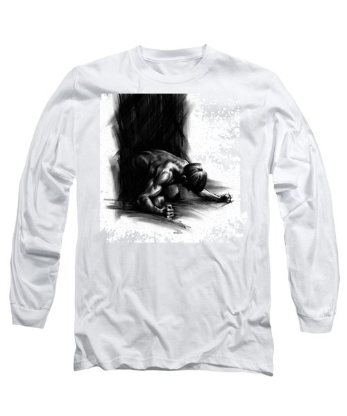 Long Sleeve T-Shirt featuring the drawing Frustration by Paul Davenport