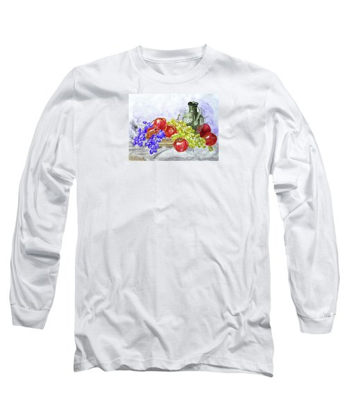 Fruit After Him Long Sleeve T-Shirt by Jasna Dragun