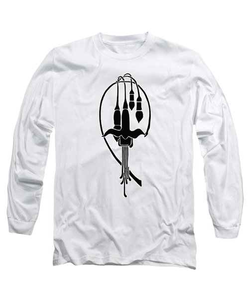 Long Sleeve T-Shirt featuring the drawing Fuchsia Stencil Art by Karon Melillo DeVega