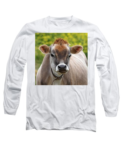 Funny Jersey Cow -square Long Sleeve T-Shirt