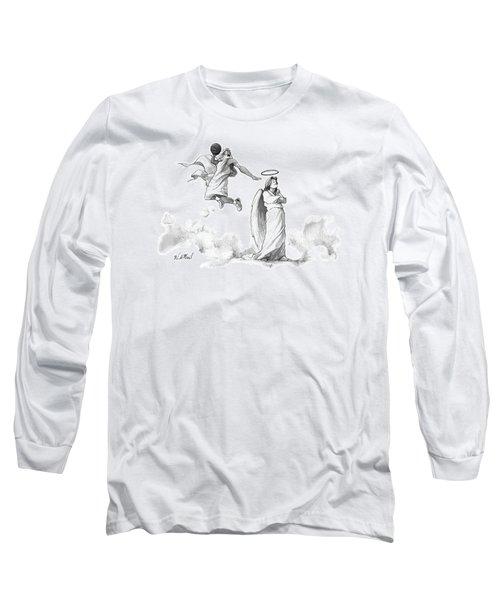 G-d Slam Dunks On An Angel's Halo Long Sleeve T-Shirt